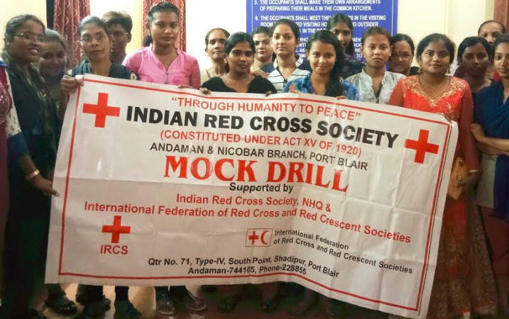 IRCS conducts mock drill at Working Women's Hostel | The